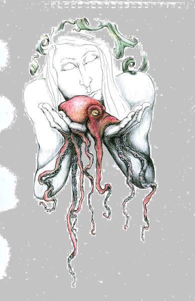 Rot, Illustrationen,