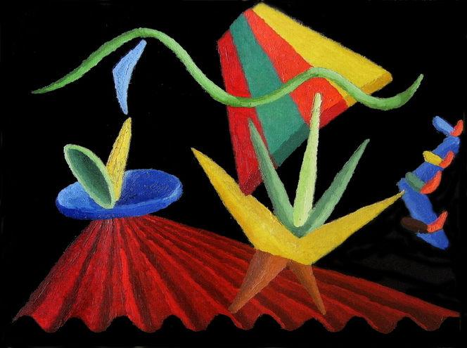 Ölfarben, Synästhesie, Abstrakt, Malerei, Ausstellung, Gnom