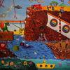 Flüchtlingsboot, Schiff, Drache, Ente