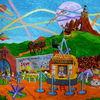 Graffittis, Verschwöungstheorien, Ufo, Ballon