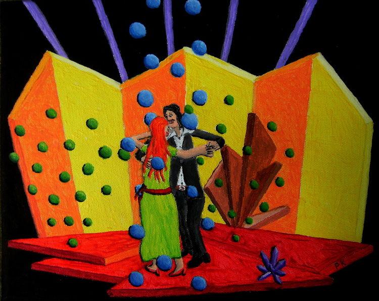 Frau, Tanzpaar, Musik, Mann, Synästhesie, Malerei