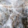 Wasser, Berge, Schwarz weiß, Wasserfall