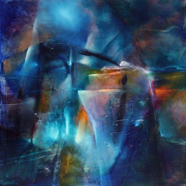 Dunkel, Licht, Nacht, Abstrakt, Winter, Malerei