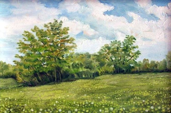 Löwenzahn, Malerei