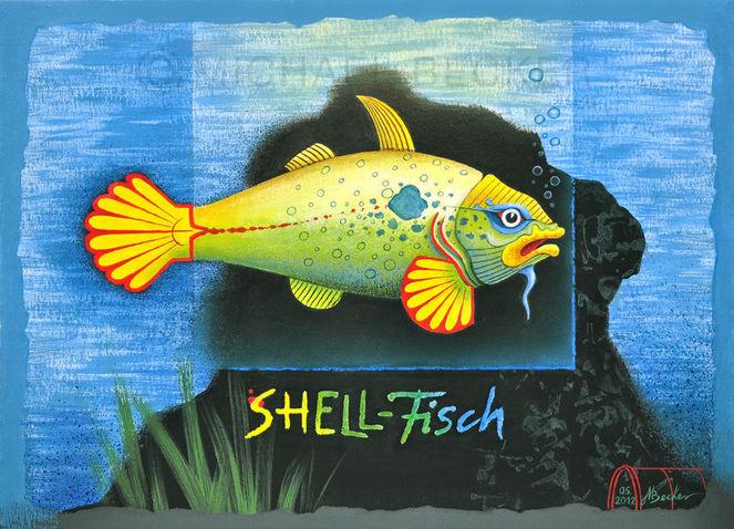 Schellfisch, Micael, Wortspiel, Fisch, Benzin, Muschel