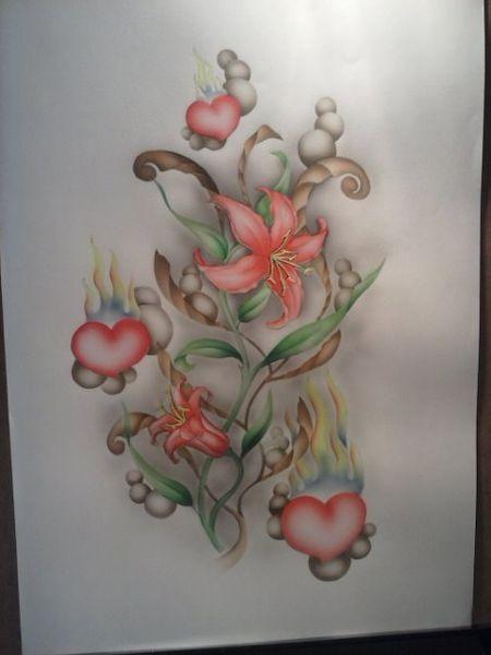 Blumen, Lilie, Flammen, Schönheit, Herz, Liebe