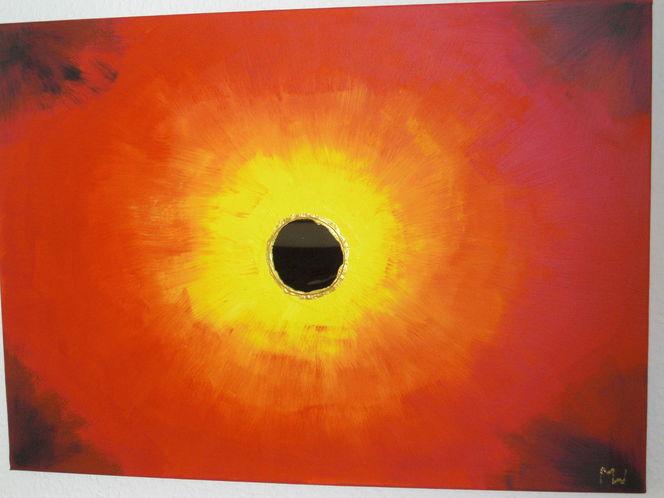 Wärme, Seele, Spiegel, Rot, Energie, Malerei