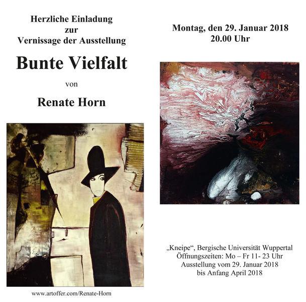 Vernissage, Wuppertal, Renate horn, Einladung, Pinnwand, Ausstellung