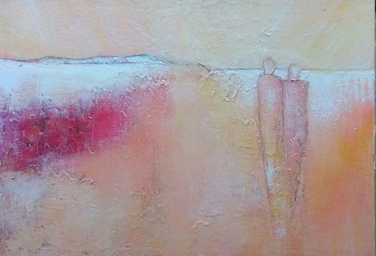 Landschaft, Abstrakt, Menschen, Horizont, Licht, Malerei