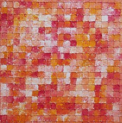 Rot, Rosa, Pink, Weiß orange, Netz, Puzzle