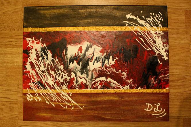 Modern, Gold, Weiß, Rot schwarz, Melallic, Abstrakt