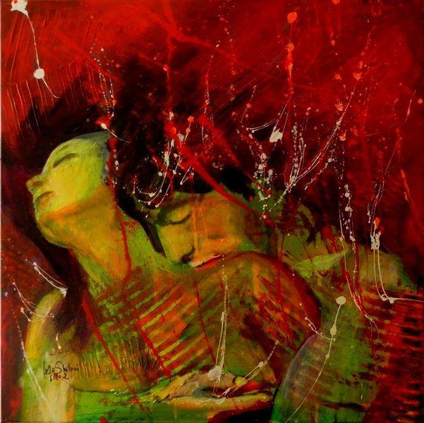 Jolanta shiloni, Mann, Malerei, Tanzpaar, Weiblich, Elementen