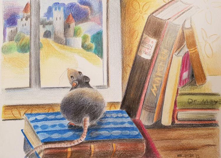 Bilderbuch, Sicht, Ratte, Illustrationen