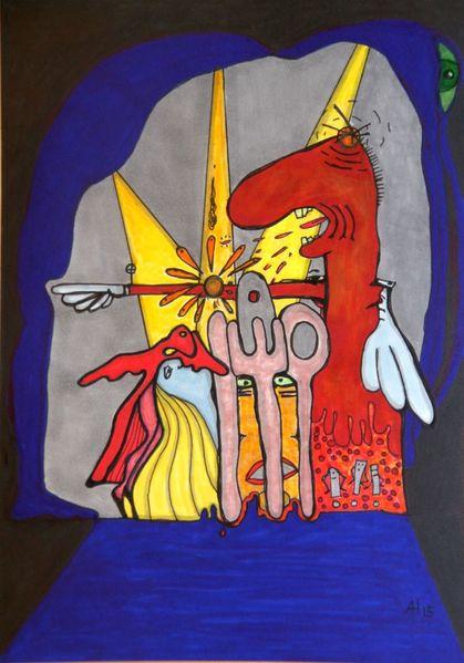 Messer, Gabel, Theater, Eicken, Löffel, Flying circus