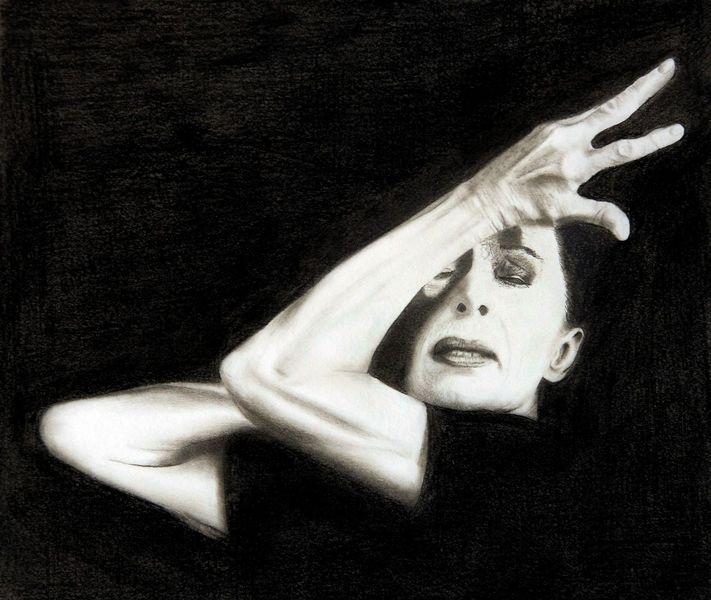 Tanz, Martha graham, Schwarz weiß, Malerei