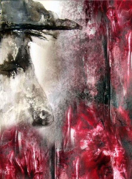 Kappe, Acrylmalerei, Nase, Kohlezeichnung, Augen, Typ