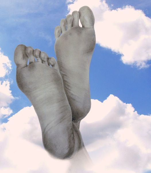Himmel, Blau, Fuß, Weiß, Ostern, Bleistiftzeichnung