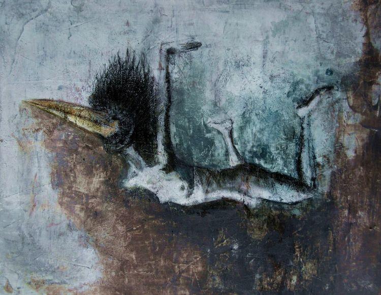 Vogelmensch, Fliegen, Körper, Malerei