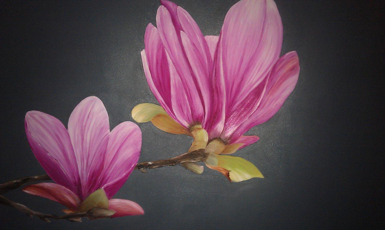 magnolie l magnolie malerei. Black Bedroom Furniture Sets. Home Design Ideas