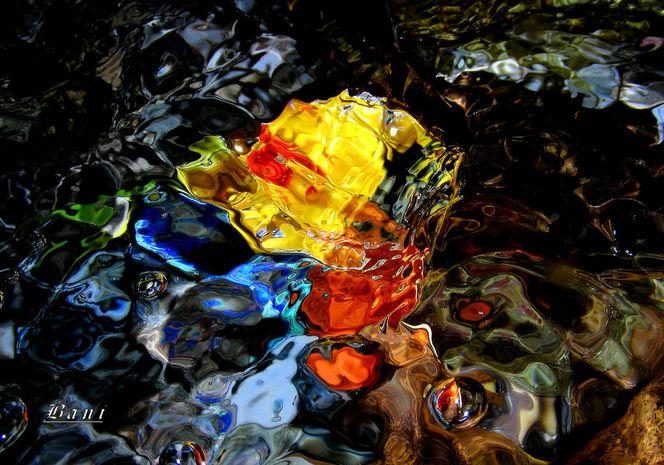 Tropfen, Wasser, Stimmung, Quelle, Farben, Fantasie