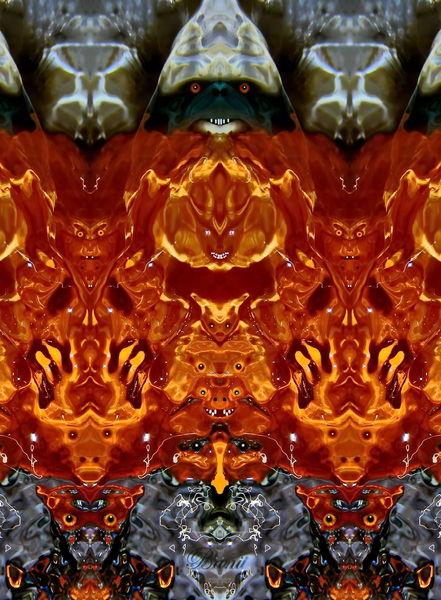 Spiegelung, Blüte, Makro, Elemente, Experimentell, Mystik