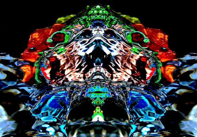 Makro, Fantasie, Farben, Licht, Experimentell, Spiegelung