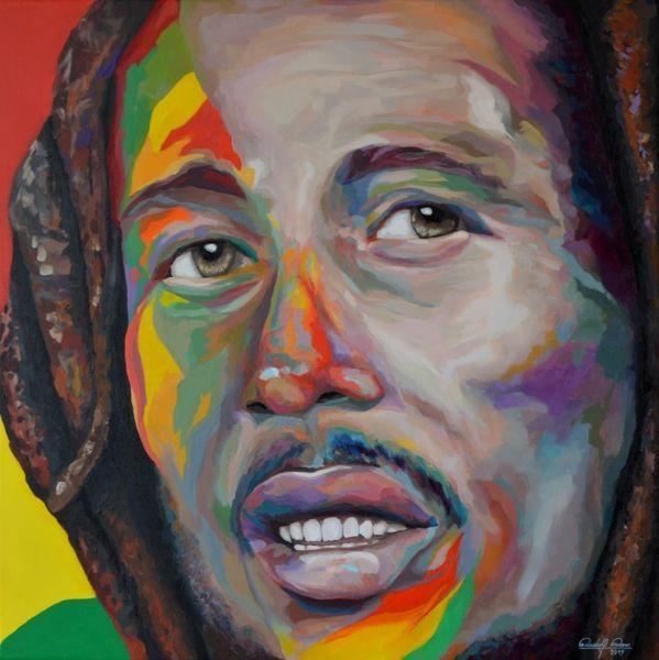 Zeitgenössisch, Malerei, Portrait, Reggae, Acrylmalerei, Gemälde