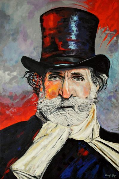 Bonn, Spachteltechnik, Rot, Portrait, Gemälde, Gelb