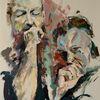 Abstrakt, Messer, Malerei, Gemälde