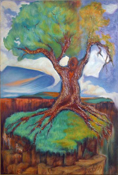 Collage, Surreal, Ölmalerei, Malerei, Landschaft, Mischtechnik
