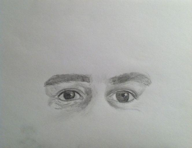 Kritzelei, Bleistiftzeichnung, Augen, Skizze, Zeichnungen