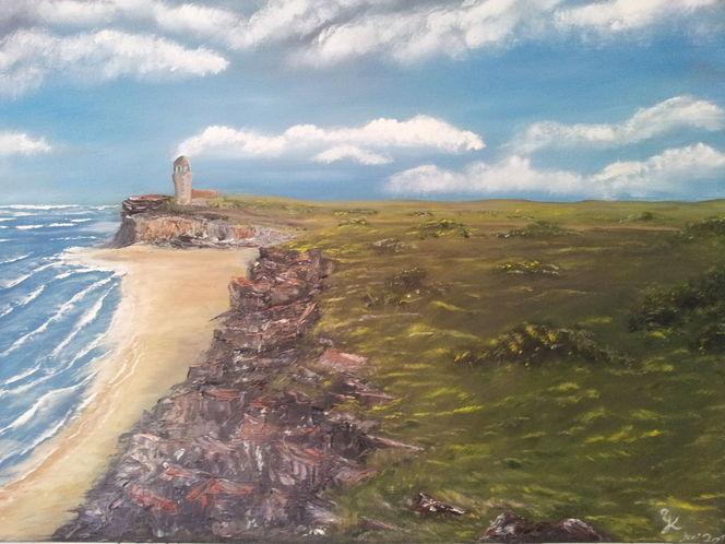 Landschaft, Felsen, Küste, Ölmalerei, Malerei, Abstrakt