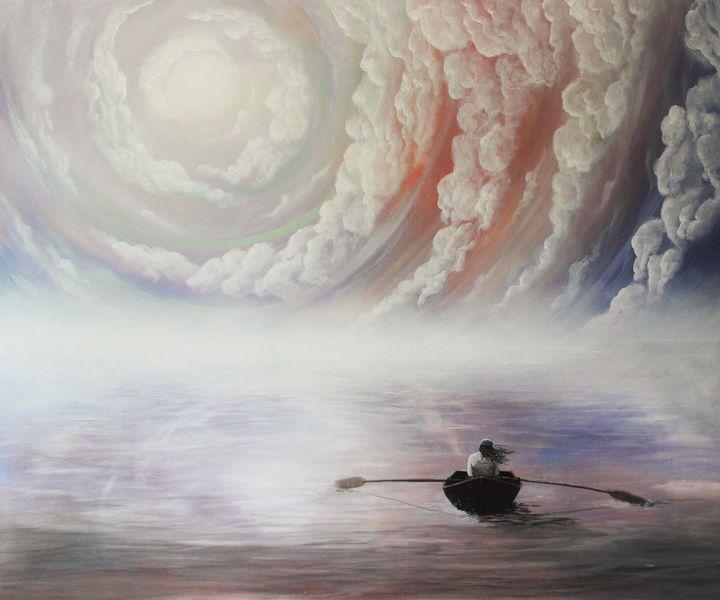 Boot, Wasser, Reise, Himmel, Spiegelung, Licht