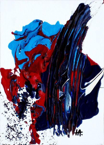 Farben, Blau, Rot, Edelstein, Malerei