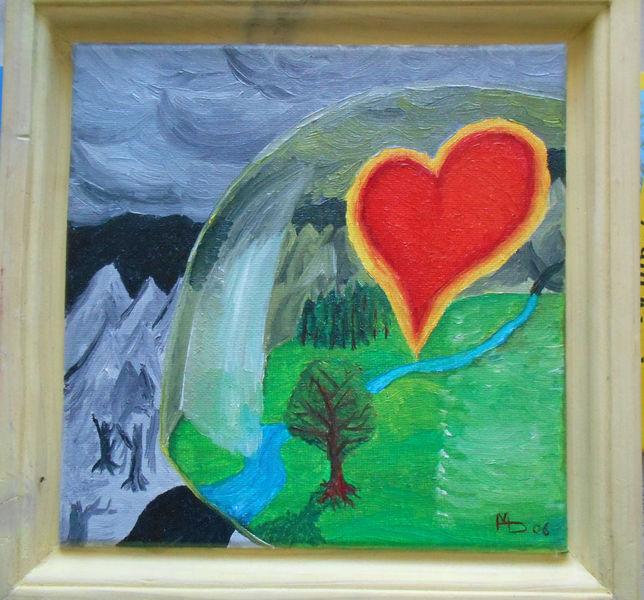 Ölmalerei, Kuppel, Gods love, Herz, Malerei,