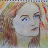 Aquarellmalerei, Tuschmalerei, Portrait, Jugendliebe