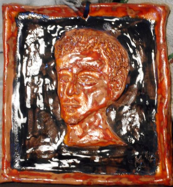 Lava, Dübler, Selbstportrait, Ton, Plastik,