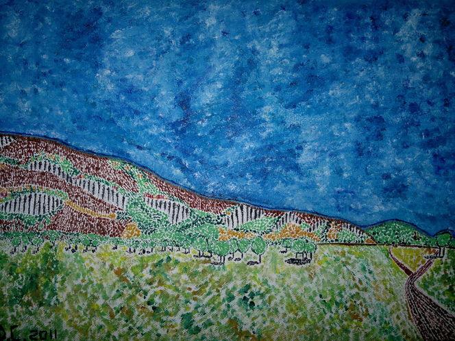 Himmel, Landschaft, Wiese, Blau, Weg, Feld