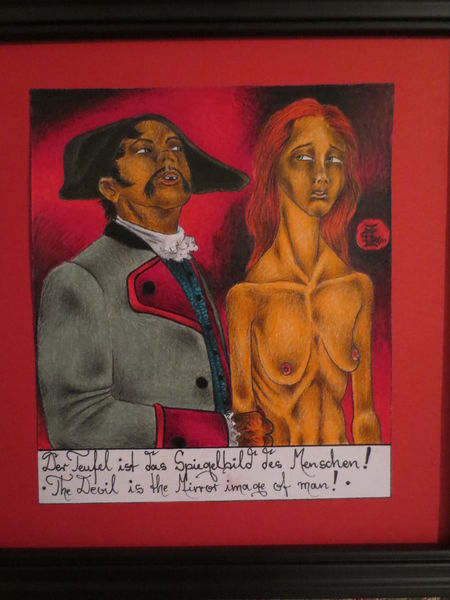 Lacrimosa, Zeichnungen, Spiegelbild, Menschen, Teufel
