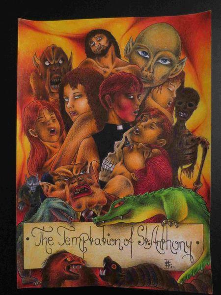 Zeichnungen, Versuchung, Heiligen