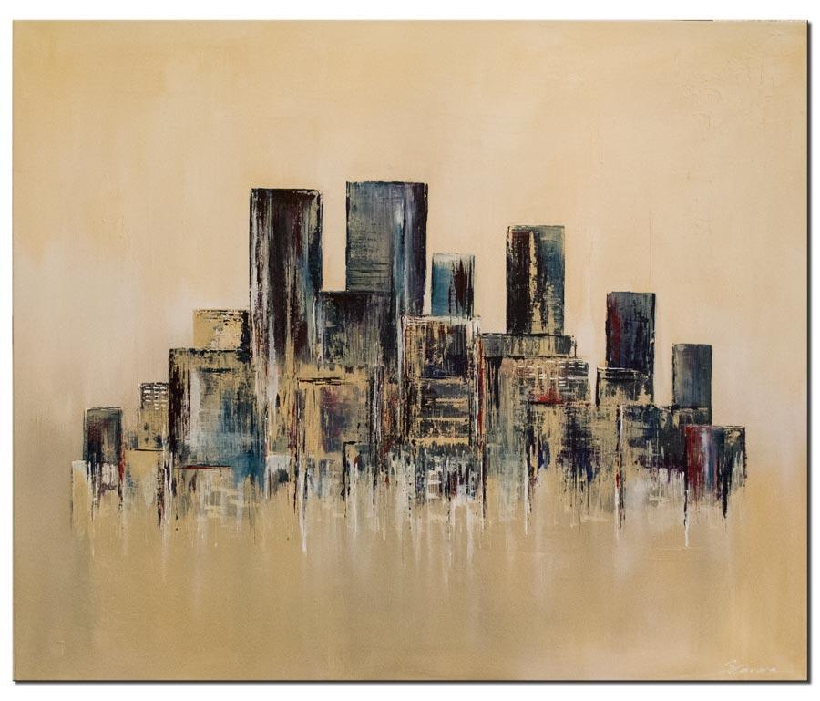wandbilder city urban stile stadt malen wandbilder malerei von antoniya slavova bei kunstnet. Black Bedroom Furniture Sets. Home Design Ideas