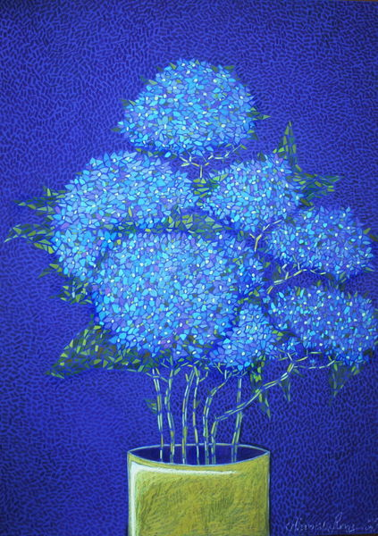 Anmut, Bukett, Aroma, Garten, Blau, Überfluss