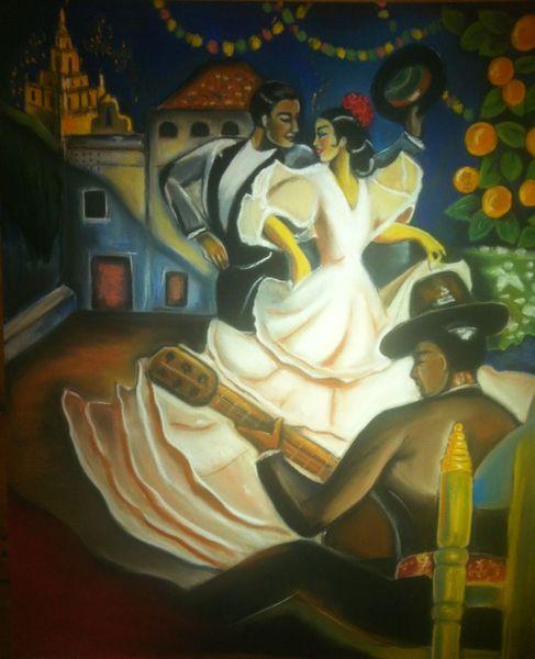 Sevilla flamenco spanien, Malerei