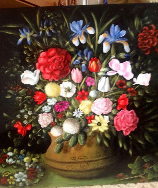 Malerei, Blumenstrauß