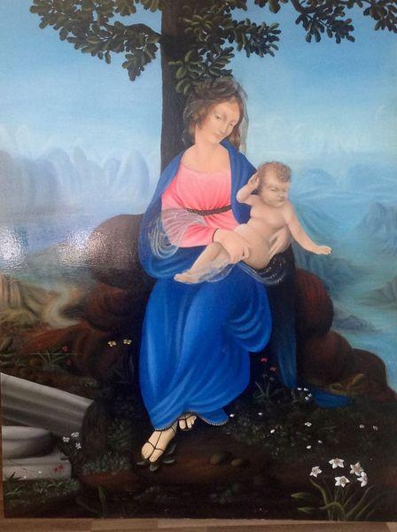 Malerei, Kind, Madonna