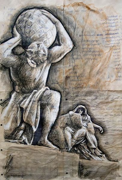 Skulptur, Illustrationen, Architektur mensch
