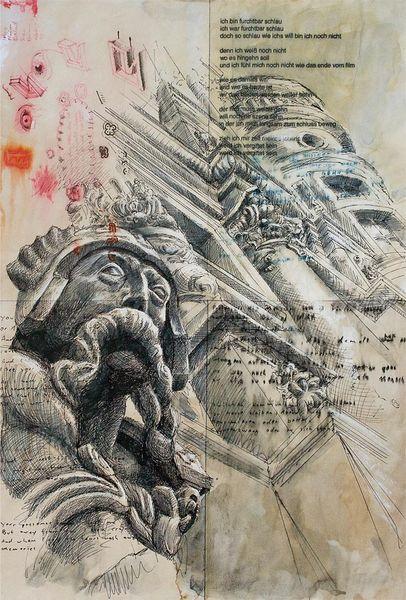 Skulptur, Architektur, Illustrationen, Architektur mensch
