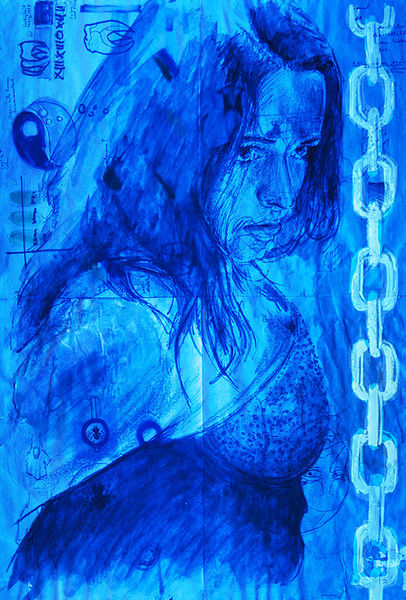 Portrait, Illustrationen, Ultraviolet, Licht