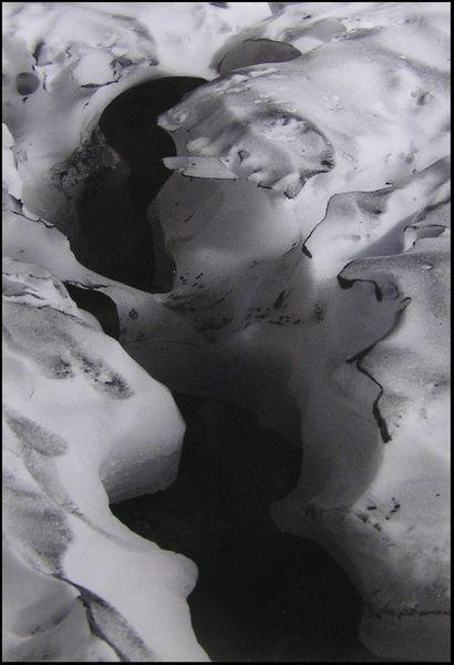 Lappland, Eis, Schwarzweiß, Schneefeld, Schnee, Analog