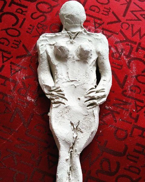 Menschen, Frau, Skulptur, Ton, Tonarbeit, Tonkunst